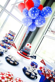 Sports theme birthday party or soccer party.