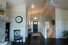 White washed Pine and a craftsman front door