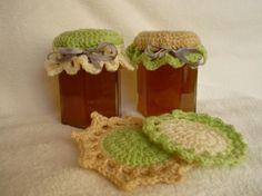 gift, crochet flower, jar cover, knit, crochet project