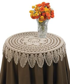 Table Topper: free pattern crochet lace free patterns, crochet doili, table toppers, doili pattern, crocheted tablecloth patterns, tabl topper, crochet patterns, dining tables, crochet tablecloth pattern