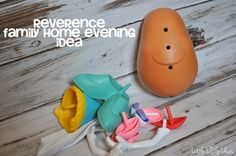 Little LDS Ideas: {Family Home Evening} Reverence. Great idea using a Mr. Potato head to teach kids how to be reverent. Also uses the story of Moses and the burning bush to teach about showing love and respect for our Heavenly Father.