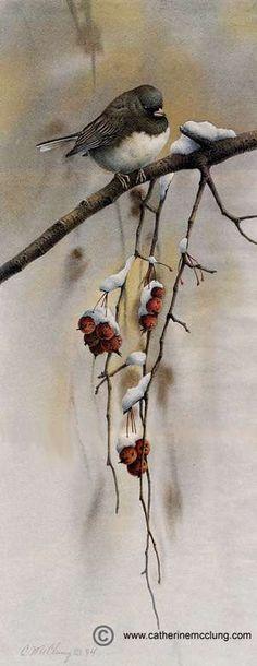 Catherine McClung watercolor - Snowbird