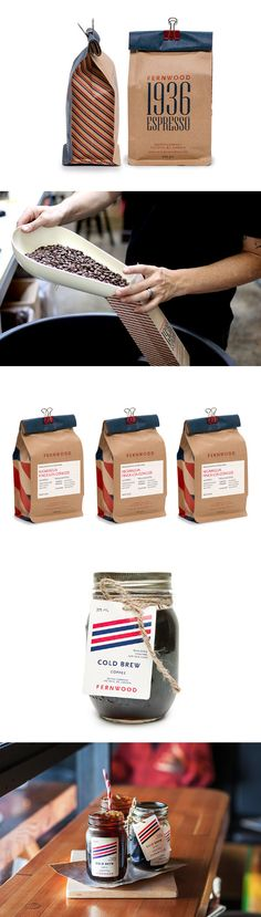 Fernwood Coffee #brand #packaging #Iconika #Likes #Brand #Experience