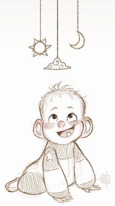 luigil, baby character design, baby sketch, home art, animal drawings for kids, drawingcharact design, cartoon baby, draw babi, line art