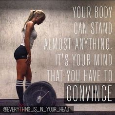 #Fitness   It's just as much mental