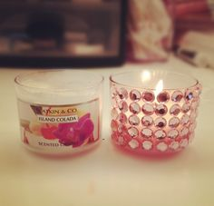 Before and after mini bath & body works candle