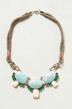 Turquoise statement necklace - $58