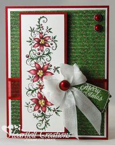 Heartfelt Creations | Merry Christmas Poinsettia Border