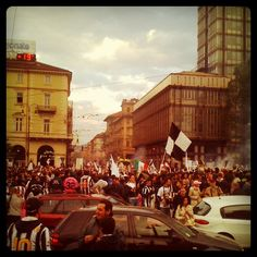 Juventus players celebrating 30th championship in Serie A beside fans! #Juventus #Juve #football #Turin #Torino #Italy #Italia #Forza #photooftheday - @hatef- #webstagram