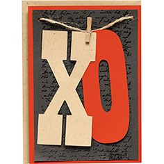 Make a bold statement with this DIY XO Card!