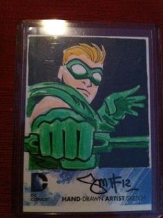 DC Comics New DC 52 Cryptozoic Sketch Green Arrow by Dan Smith | eBay