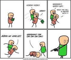 Cyanide and Happiness put him out of his misery