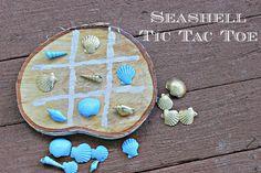 Seashells Tic Tac Toe - Live Creatively Inspired