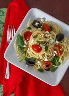 Vegetarian Greek Pasta with Feta #15MinuteSuppers