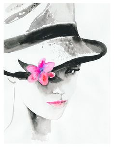 Pink | Cate Parr #watercolor #illustration