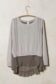 skirted pullover / anthropologie