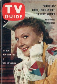 """Mary Martin in """"Annie Get Your Gun""""  November 23-29 1957"""