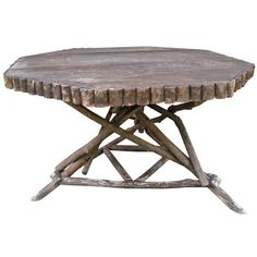 Rustic Twig Dining Table, 1920's rustic twig, dining rooms, dine tabl, dining room tables, twig furnitur, cabin fever, woodland cottag, dining tables
