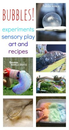 Brilliant bubble play activities, with great recipes and sensory play ideas.