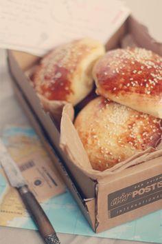 Buns // Petits pains briochés pour burger