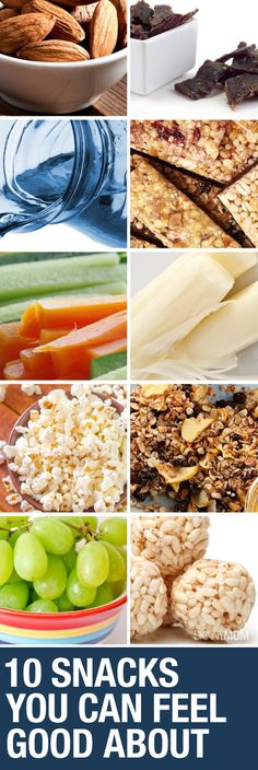 When you're in a hurry, here are some great snacks to take along with you.