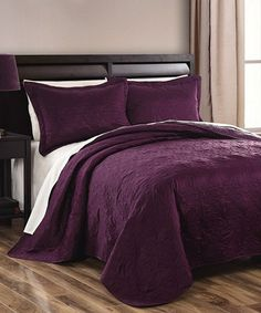 Plum Sherry Coverlet Set #zulily #zulilyfinds
