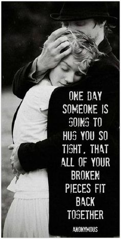 one day, romanc, oneday, soul mates, hug, looking forward, inspir, thought, quot