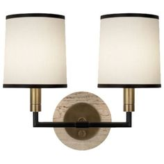 Axis Double Wall Sconce by Robert Abbey