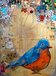 mixed media collage by Betony Coons