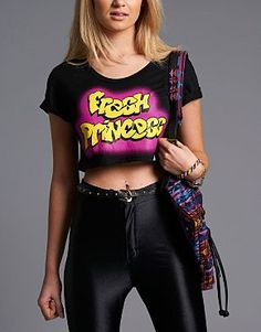 Is this the best top we have ever seen? Let's go back to the #90's, #FreshPrince style! #crop #fashion by Bank, available at Mallzee.