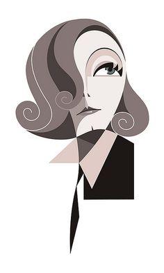 Greta Garbo | Illustrator: Fabio Paiva Corazza