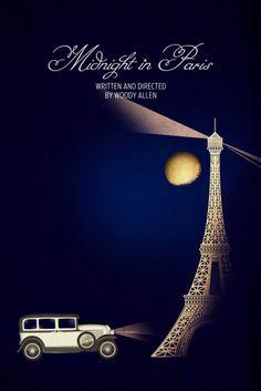 B2/C2 - Midnight in Paris: Haz un resumen [crítico] del argumento de la película. [Póster minimalista de cine para la clase de ELE.]