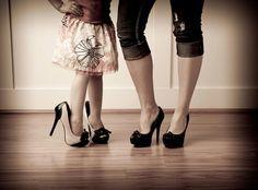 Mother Daughter Portrait Ideas | Cute mother daughter Picture idea