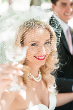 vintage wedding makeup -  photo by Michele Beckwith http://ruffledblog.com/the-notebook-inspired-wedding #vintagehair