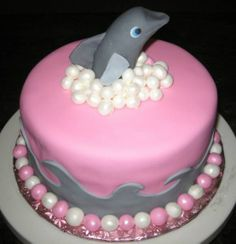 4 Following Seas: Dolphin Birthday Party Step One: The Cake!
