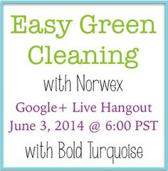 Come learn all about Norwex's awesome line of Green Cleaning products!  Green your clean the easy way!