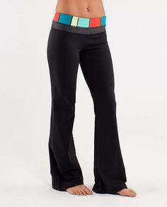 Lululemon Groove Yoga Pants...awesome color combinations!