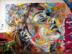 wall art, color, graffiti, david walker, street art, paint, artist, portrait, streetart