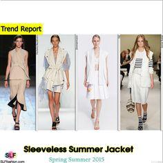 Sleeveless Summer Jacket Trend for Spring Summer 2015.Victoria Beckham, Zimmermann, TSE, and Sonia Rykiel #Spring2015 #SS15 #blazer