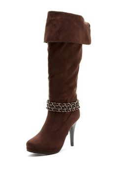 ANNA Shoes Rachel Platform Tall Boot