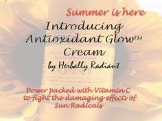 Antioxidant glow range from Herbally Radiant is brand new. Visit the store at 6600 Sylvania Avenue, Saxon Square Sylvania, Ohio to get this precious sun fighting cream with regenerative power of Vitamin C.