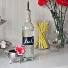 Cute idea! Turn an old wine bottle into a DIY soap dispenser
