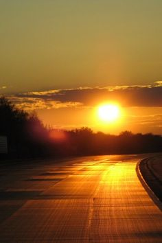 Sunset on the road..