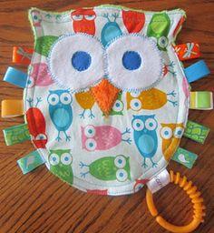 CUTE - owl taggy chew toy