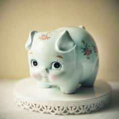 Vintage Baby Piggy Bank