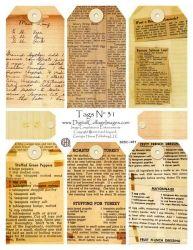 Vintage Recipe Tags