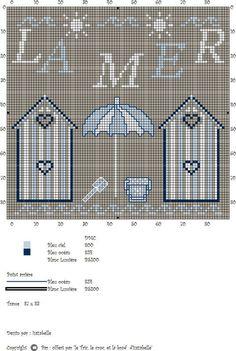 Point de croix mer on pinterest cross stitch patterns counted cross stitches and cross stitch - Grille point de croix mer ...