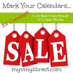 myvinyldirect.com Black Friday Cyber Monday Reminder You don't want to miss this sale!!!