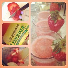 Pink lemonade slushies, perfect for a hot day :)