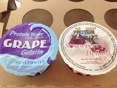 High protein jello & yogurt.    Use jello during week 1 post operation. 80 calories, 15gm protein http://healthwisenri.com/gelatinDesserts.php    Use yogurt after week 2 post operation.